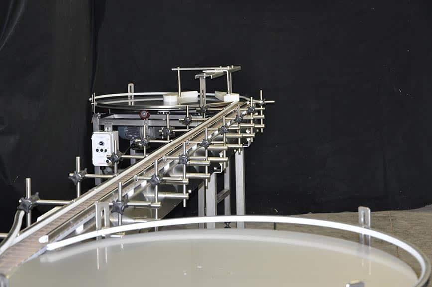 conveyor-rotary-accumulation-rotary unscrambling
